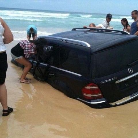 Do not park on the beach.