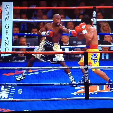 Mayweather getting hit