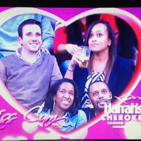 Kiss cam fail during the Atlanta vs Washington game