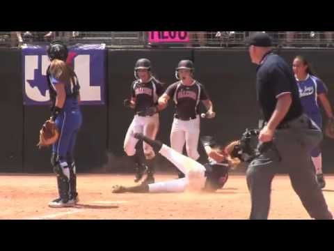 High School Softball Catcher Gets Away with Leveling Pair of Baserunners
