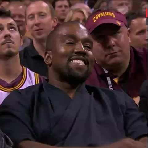Kanye got caught smiling again