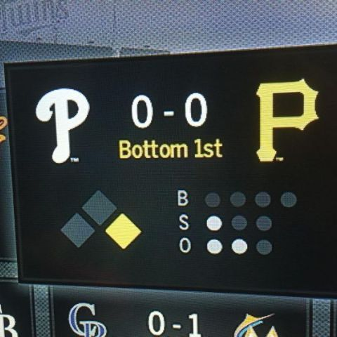 When the Phillies and Pirates play each other, the game starts off as 'POOP'
