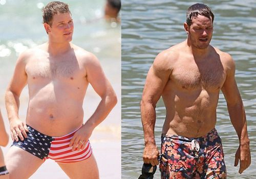 Chris Pratt Before and After GG