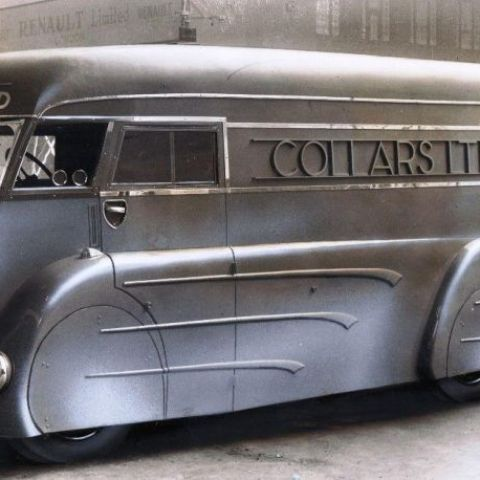 Art Deco laundry van built in the 1930s by Holland Coachcraft of Govan, Scotland.