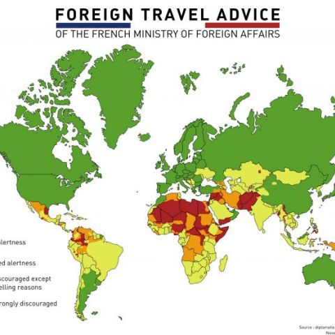 Foreign travel advice of the French Ministry of Foreign Affairs
