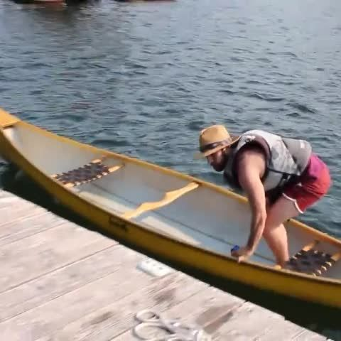 Just docking the canoe after a day of fishing