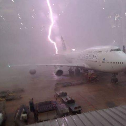 Lightning at the airport