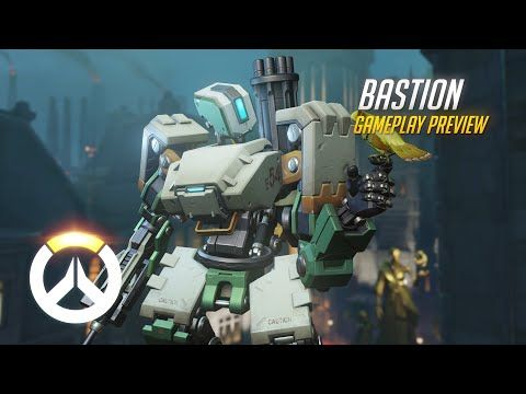 Overwatch: Bastion Gameplay Preview | 1080p HD, 60 FPS