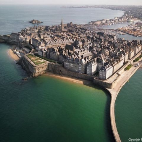 The walled city of Saint-Malo in Brittany, the center of French Piracy.