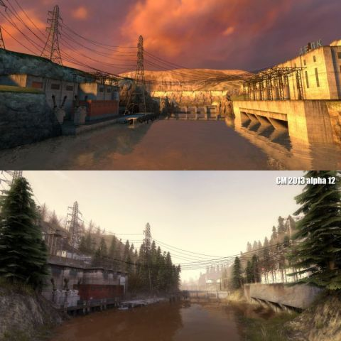 Half Life 2 vs. Half Life 2 with the Cinematic Overhaul