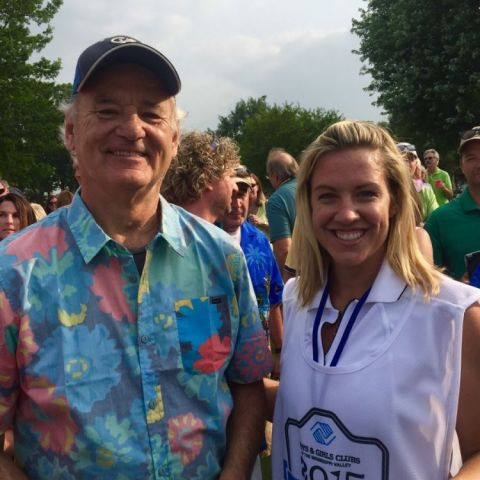 I got to caddy for Bill Murray today for the boys and girls club tournament