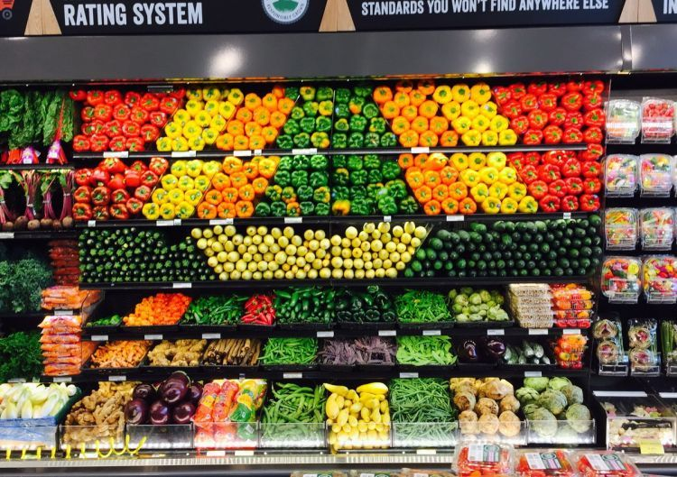 Nicely organized produce