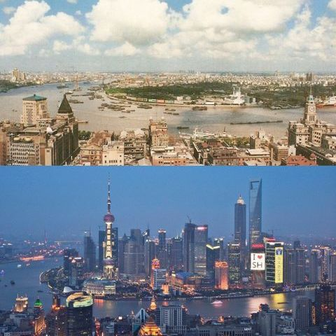 Shanghai in 1990 vs 2010