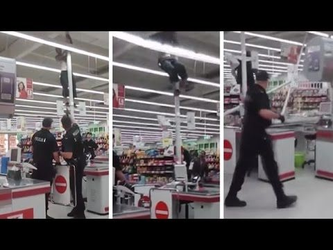 Idiot Shoplifter Tries To Escape And Fails