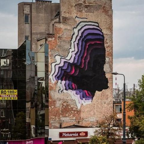 1010 paints another hole in Warsaw, Poland
