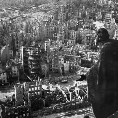 WWII Aftermath: Dresden In Ruins 1945
