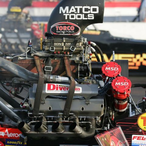 Top Fuel Dragster Engine. Fastest on the strip.