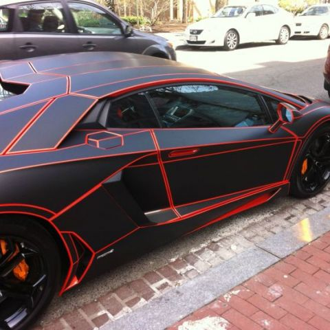 I see your TRON mustang and I raise you a TRON lambo