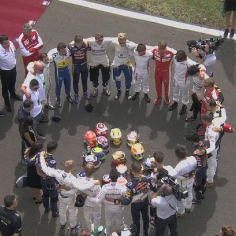 Pre-Race tribute to Bianchi