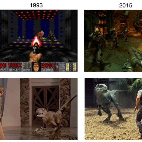 Evolution of Graphics 1993 - 2015: Games vs. Movies