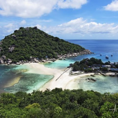 .: Three Islands - Only place in the world where three islands connect with one beach