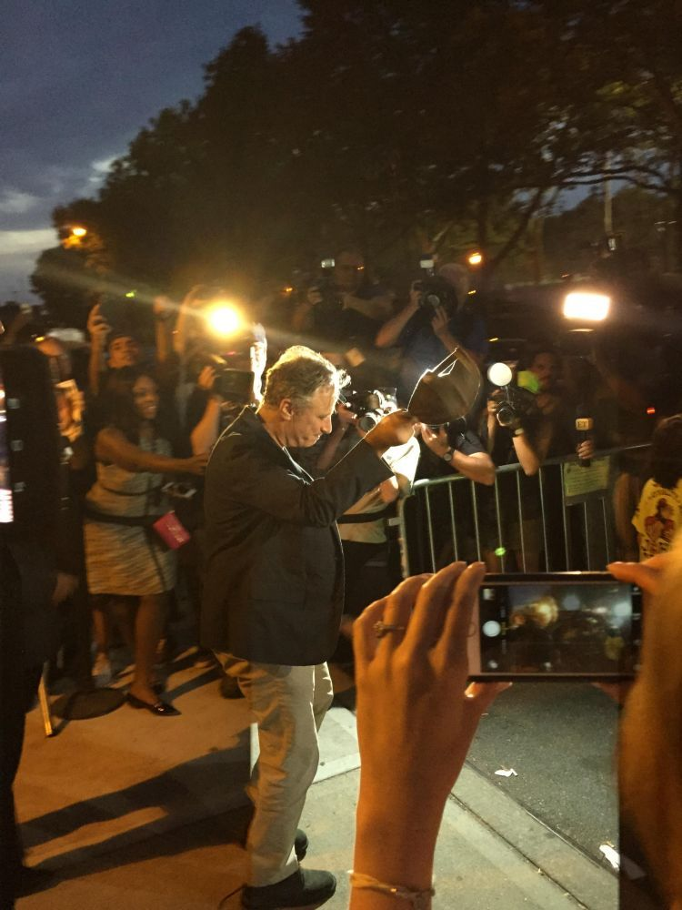 Friend took this outside the final taping of The Daily Show with Jon Stewart