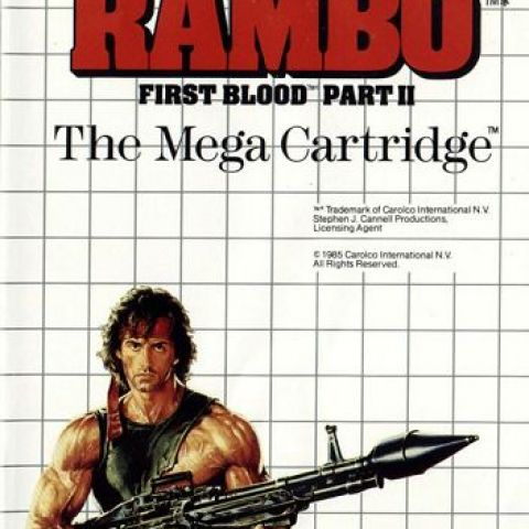 Noticed something strange about Rambo's gun while revisiting some old games [Rambo - Sega Master System]