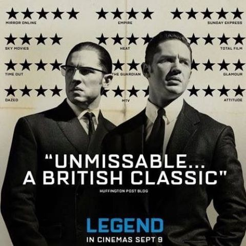 The Guardian gave Tom Hardy's new film 'Legend' two stars. The film's poster designer hid it in plain sight.