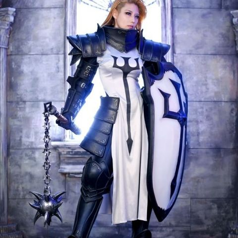 Amazing Diablo III Crusader Cosplay by Tasha