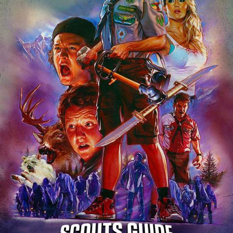 The new poster for Scouts Guide to the Zombie Apocalypse is beautiful
