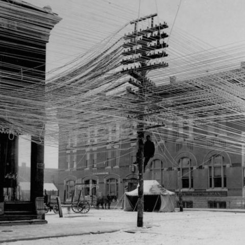 Wires in Pratt, Kansas 1911