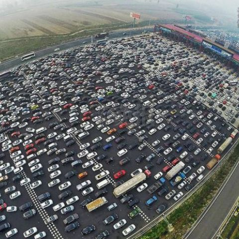 Traffic jam in Beijing China