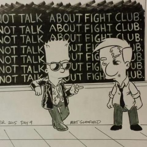 The Simpsons v Fight Club.