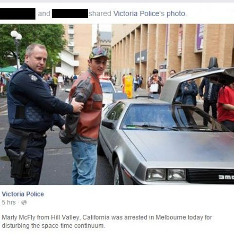So Victoria Police posted this today...