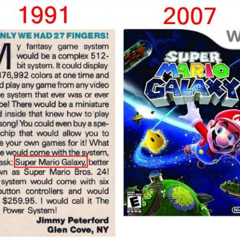Some kid in Nintendo Power magazine came up with the title