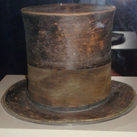 Top hat worn by Abraham Lincoln the night he was shot