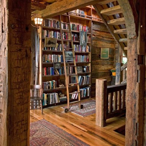 Mini, Rustic Library - Attic Staircase | Minneapolis, MN