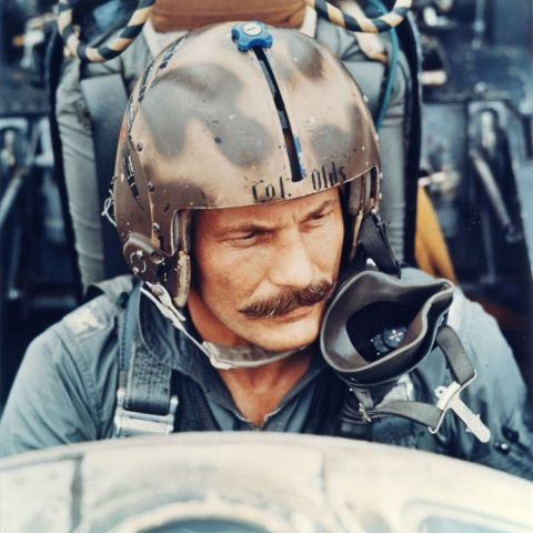 Robin Olds: triple ace of WWII and Vietnam War, in his F-4, 1967