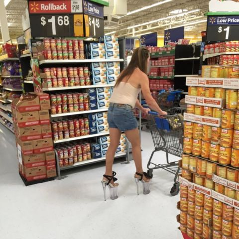 I see she doesn't want to wait for assistance on those top shelf items.