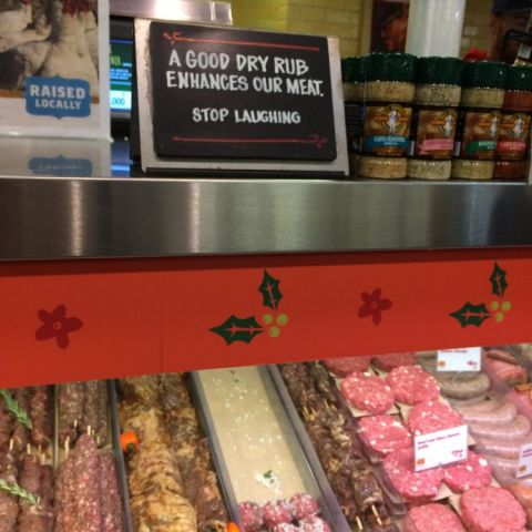 Butchers and their inside jokes...