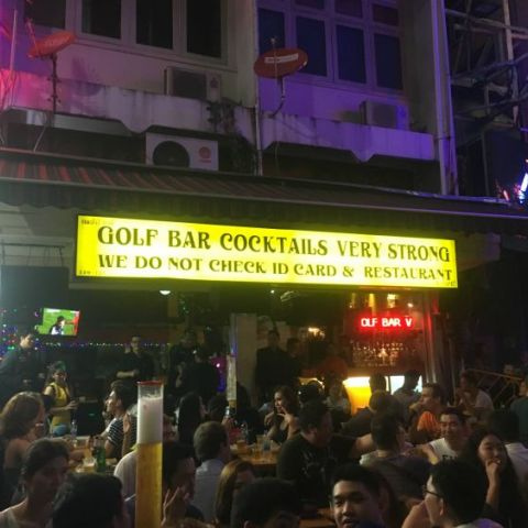 We found this amazingly named bar in Bangkok, Thailand
