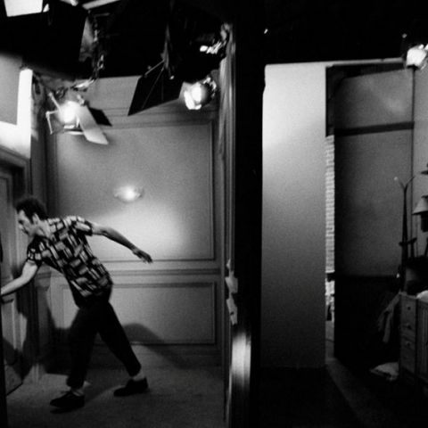 Kramer about to enter a scene.