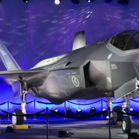 A Lockheed Martin F-35A Lightning II - The F35 Joint Strike Fighter 'program is the most expensive military weapons system in history