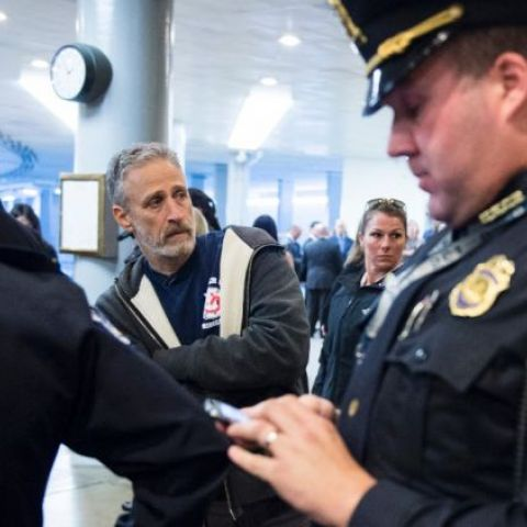 U.S. Capitol Police ask Jon Stewart to leave as he lobbies lawmakers to approve the extension of the James Zadroga Act (fully funded health care for 9/11 first responders and survivors)