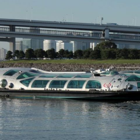 The 'Himiko' water bus of Tokyo