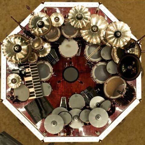 Neil Peart's drum set