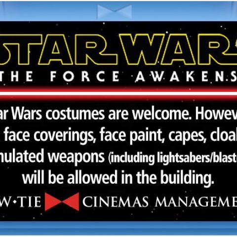 So, no Star Wars costumes then...