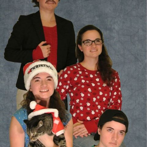 This year, I began living alone for the first time. This is my Christmas card.