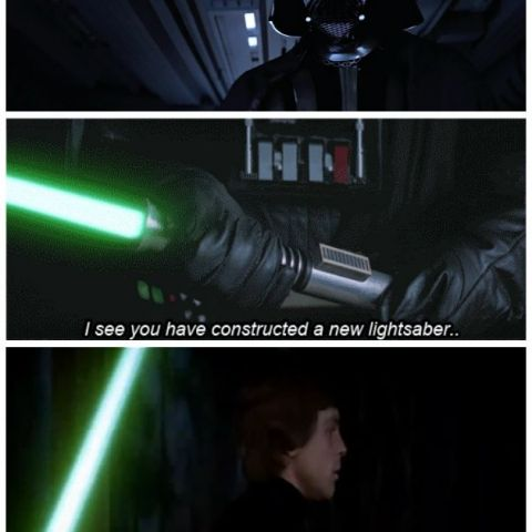 You made a new light saber