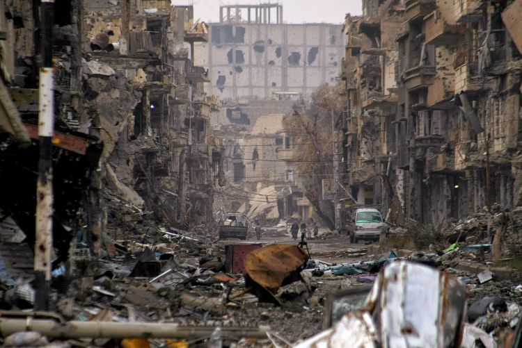 The destructiveness of war in Syria